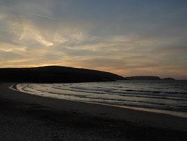 Malpica - Sonnenuntergang am Praia Area Maior