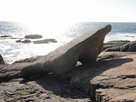 Muxia - Segel vom Boot aus Stein