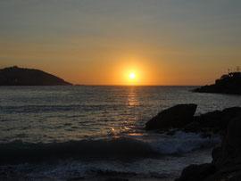 A Coruna - Sonnenuntergang am Praia do Orzon