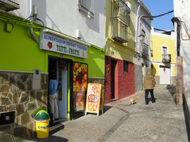 Jaén farbenfrohe Häuser