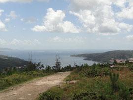 Blick auf die Bucht von Corcubion