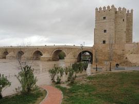 Córdoba - Hochwasser beim Torre de la Calahorra