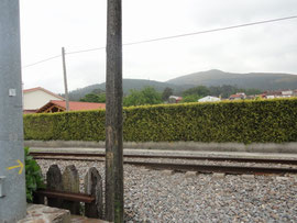 Iria - Weg über die Eisenbahngeleise