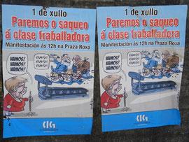 Plakat im Vorort von Santiago