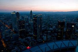 Skyline mit Bankenhochhäuser, Frankfurt a. M., 2011