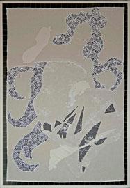 Kleid mit Schattenmuster, 132 x 91 cm, 2014