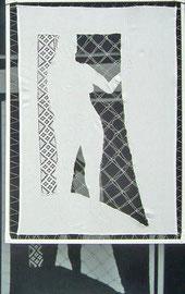 2008, 64 x 88 cm, Leinen, Borte, in lackierten Holzrahmen gespannt