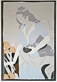Mit Blumenschale, 132 x 91 cm, 2015
