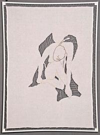 2008, 65 x 88 cm, Leinen, Baumwollfäden, Stickgarn, in lackierten Holzrahmen gespannt