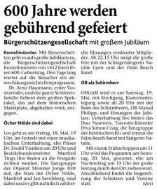 Samstag, 07. April 2012, 600 Jahre Bürgerschützen Kornelimünster