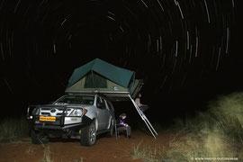 Abenteuer pur - mit dem Allrad und Dachzelt in Afrika unterwegs und dann noch dieser Sternenhimmel!!