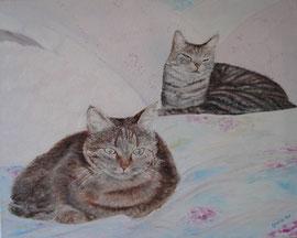 Terry e Ulisse (olio su tela) 2007 COLLEZIONE PRIVATA