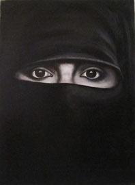Niqab (olio su tela) 40 x 50  - 2011
