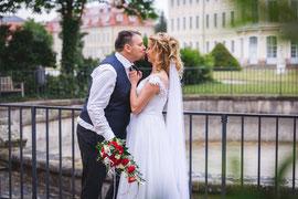 Brautpaarshooting mit Sina und Tilman am Schloss Hubertusburg in Wermsdorf.