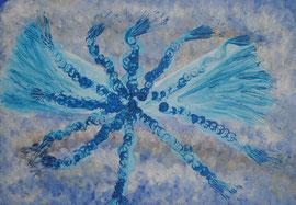 """ Sternenblau""  Keilrahmen   50 cm / 70 cm ...  120,-€"