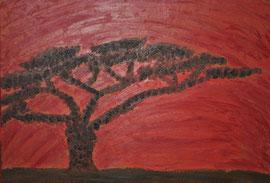 """Sonnenuntergang Afrika"" Öl auf Künstlerpappe  50 cm/ 40 cm... 80,-€"