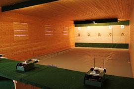 Schützenheim mit Schießständen