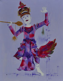 Balinese danseres - 70x90 cm