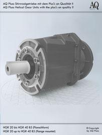 Stirnradgetriebe B5 Flanschbauform - ohne E Motor - Sologetriebe