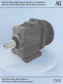Stirnradgetriebe B3 Fußbauform - ohne E Motor - Sologetriebe