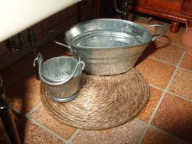 la arpillera bajo el fredadero la hize con cuerda