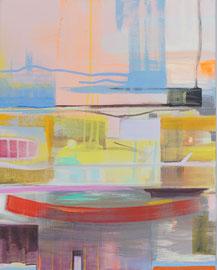 Zeitrauschen II / Acryl auf Leinwand, 50 x 40 cm, 2018