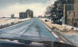 Übers Land 1.2  /   Acryl a. Leinwand, 72 x 120 cm, 2020
