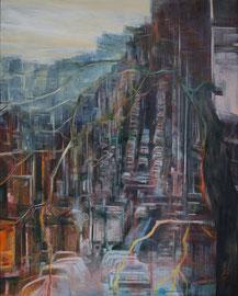 Alte Stadt  /   Acryl a. Leinwand,  100 x 70 cm, 2015,
