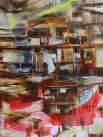 red spirit  /  Acryl auf Leinwand, 90 x 70 cm, 2015