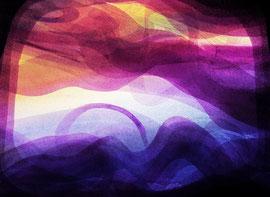 Landscape musical interpretation painting, Mauricio Paz Viola contemporary abstract art