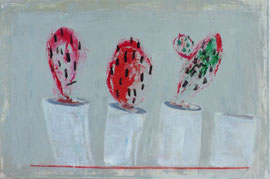 Antje Eule - Kakteen (2017), Öl auf Leinwand, 60 x 40