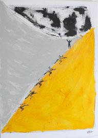 Antje Eule - Geschafft (2016) Öl auf Leinwand 50 x 70