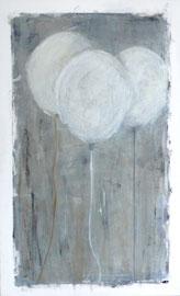 Antje Eule - Luftballons (2018), Öl auf Leinwand, 40 x 60