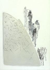 Antje Eule - Bergab (2016), Öl auf Leinwand, 50 x 70