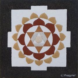 Hindou (1); 40 x 40 cm