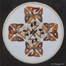 Croix Celte (1); 40 x 40 cm