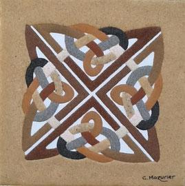 Celte (1); 40 x 40 cm