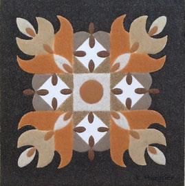 Hindou (2); 40 x 40 cm