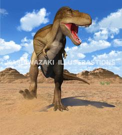 『学研LIVE恐竜』表紙イラスト
