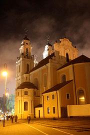 Vilnius bei Nacht