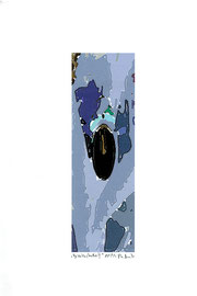 """""""Gezeitenstudie III"""" Werkverzeichnis 2.342 / datiert 11/99 / Fotoveränderung als Tintenstrahldruck auf Papier / Maße b 21,0 cm * h 29,7 cm"""