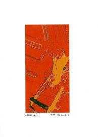"""""""Mittelsog II"""" / Werkverzeichnis 2.272 / datiert 9/99 / Fotoveränderung als Tintenstrahldruck auf Papier / Maße b 21,0 cm * h 29,7 cm"""