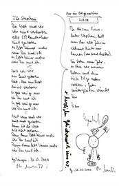 Anschreiben an Stephan Krawczyk zum 45. Geburtstag - per Fax