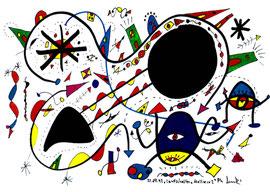 """""""Landschaftern"""" - Mallorca 2 - verkauft an unbekannt Mallorca, den 22.07.1993, Werkverzeichnis 359 Textilfarbe auf Aquarellpapier b 40,0 cm * h 30,0 cm"""