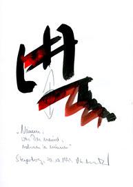 """""""Nimm, was Du meinst, nehmen zu müssen"""" / WVZ 2.335 / datiert 20.10.1999 / Aquarell und Bleistift auf Papier / Maße b 21,0 cm * h 29,7 cm"""