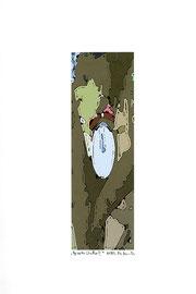 """""""Gezeitenstudie II"""" Werkverzeichnis 2.341 / datiert 11/99 / Fotoveränderung als Tintenstrahldruck auf Papier / Maße b 21,0 cm * h 29,7 cm"""