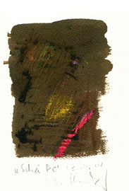 """""""Scheiße"""" / Werkverzeichnis 3.740 / datiert 23.11.04 / Aquarell, Kreide und Bleistift auf Papier / Maße b 23,0 cm * 31,0 cm"""