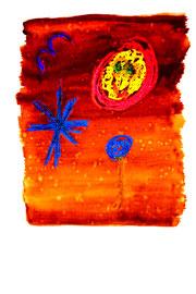 """""""Hinterm Horizont"""" / Serie v. 13 Arbeiten / hier 8/13 WVZ 3.757 / datiert 2005 / Tinte, Kreide, Bleistift, Aquarell auf Papier / b 30,0 cm * h 42,0 cm"""