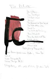 """""""Für Petra"""" / Werkverzeichnis 2.329 / Datiert Steyerberg, 19.10.99 / Aquarell, Tusche und Text auf Papier / Maße b 21,0 cm * h 29,7 cm"""