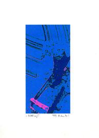 """""""Mittelsog I"""" / Werkverzeichnis 2.271 / datiert 9/99 / Fotoveränderung als Tintenstrahldruck auf Papier / Maße b 21,0 cm * h 29,7 cm"""